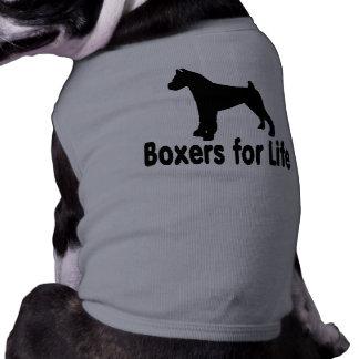 Boxeadores lindos y adorables para la ropa del playera sin mangas para perro