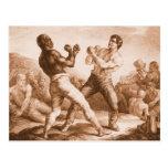 Boxeadores por Gericault Postal