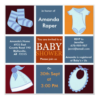 Boxed Boy Baby Shower invite