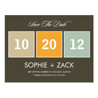 Boxed Calendar Save The Date Postcard (Gray) Post Cards