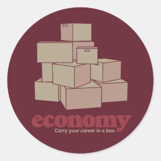 Boxed Economy Classic Round Sticker