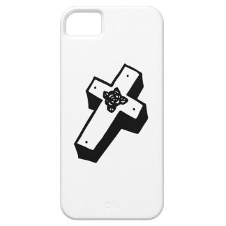 Boxed Floral Cross iPhone 5 Cases