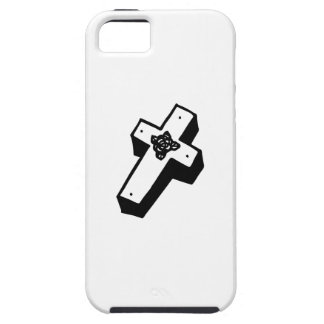 Boxed Floral Cross iPhone 5 Cover