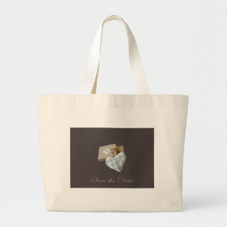 Boxed Heart Save the Date Bags