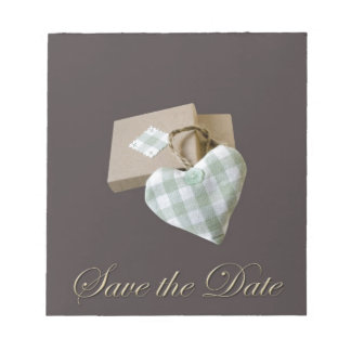 Boxed Heart Save the Date Memo Pads