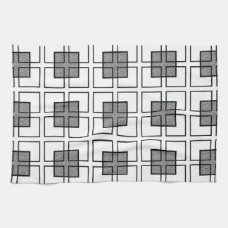 Boxed In Black Kitchen Towel