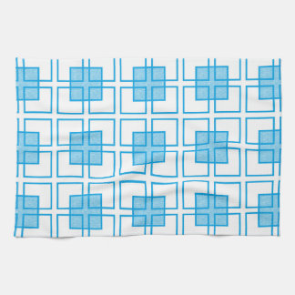 Boxed In Turquoise Hand Towel