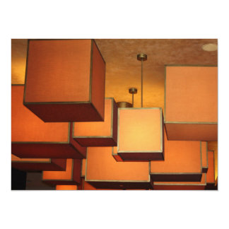 "Boxed Lighting 5.5"" X 7.5"" Invitation Card"