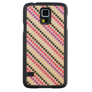 Boxed Stripe 2014 Carved Maple Galaxy S5 Slim Case