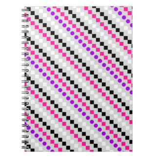 Boxed Stripe 2014 Spiral Notebook