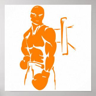 Boxeo anaranjado poster