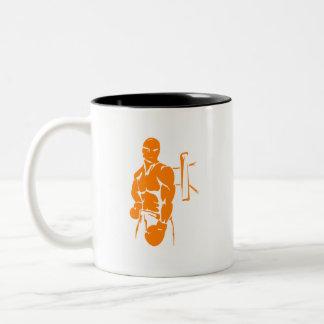 Boxeo anaranjado tazas de café