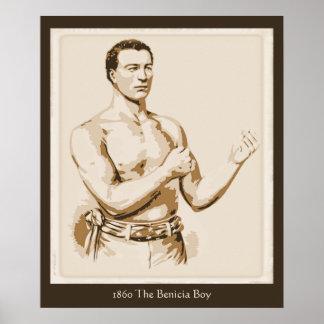 Boxeo antiguo 1860 el muchacho de Benicia Impresiones