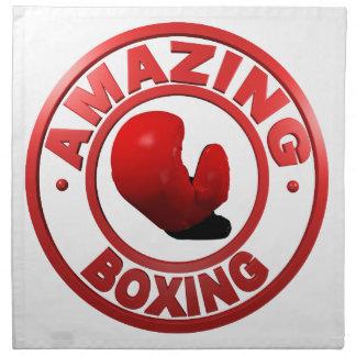 Boxeo asombroso servilletas imprimidas