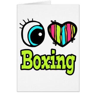 Boxeo brillante del amor del corazón I del ojo Tarjeta De Felicitación