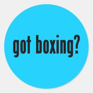 ¿boxeo conseguido? pegatina redonda