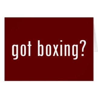 ¿boxeo conseguido? tarjeta de felicitación