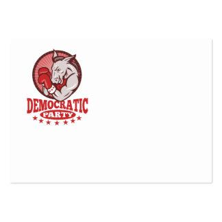 Boxeo de la mascota del burro de Demócrata Tarjetas De Visita Grandes