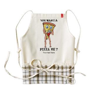 Boxeo de la pizza de la basura del dibujo animado delantal zazzle HEART