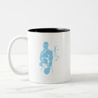 Boxeo de los azules cielos taza de café