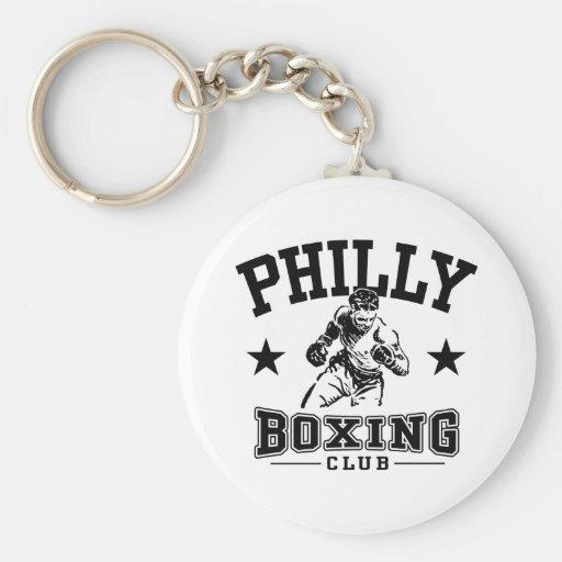 Boxeo de Philly Llavero Redondo Tipo Pin