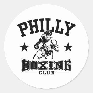 Boxeo de Philly Pegatina Redonda