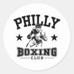 Boxeo de Philly Pegatinas Redondas