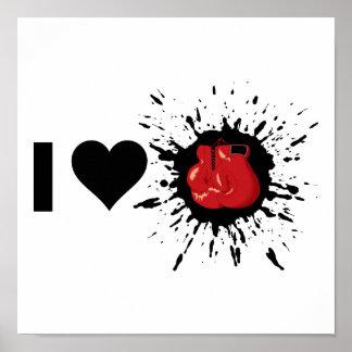 Boxeo del amor del explosivo I Póster