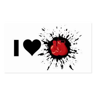 Boxeo del amor del explosivo I Tarjetas De Visita