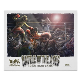 Boxeo del dinosaurio poster