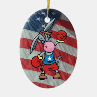 boxeo democrático del burro adorno