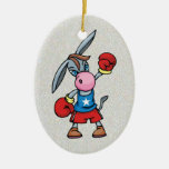 boxeo democrático del burro ornamento para reyes magos