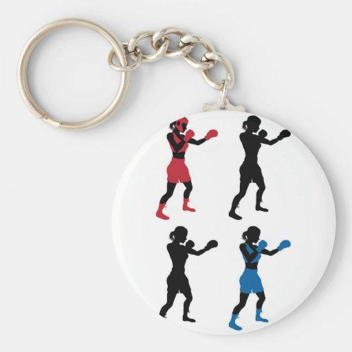 Boxeo femenino del boxeador llavero
