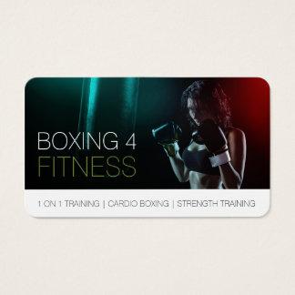 Boxeo para la esquina redondeada del instructor tarjeta de negocios