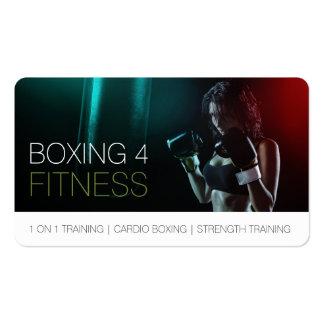 Boxeo para la esquina redondeada del instructor tarjetas de visita
