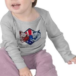 Boxeo republicano de la mascota del elefante del b camiseta