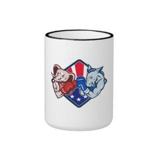Boxeo republicano de la mascota del elefante del b tazas