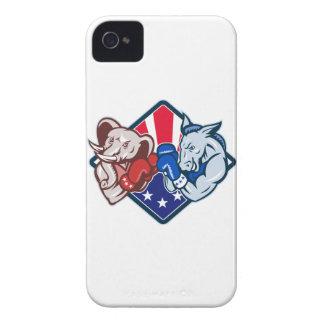 Boxeo republicano de la mascota del elefante del iPhone 4 Case-Mate protector