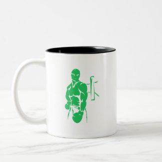 Boxeo verde de Kelly Tazas De Café