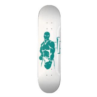 Boxeo verde del trullo tabla de skate