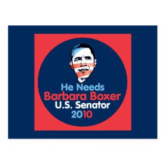 Boxer 2010 Senator Postcard