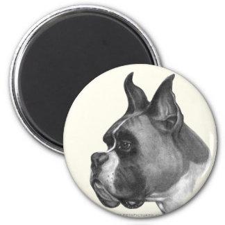 Boxer 2 Inch Round Magnet