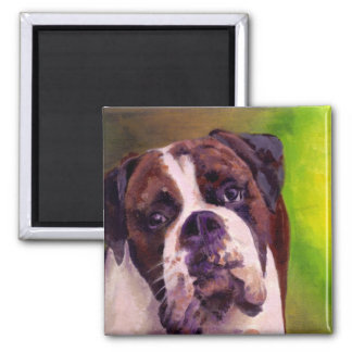 Boxer 2 Inch Square Magnet