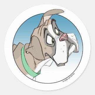 Boxer 3 round sticker