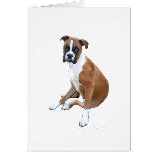 Boxer (A) - natural ears Card