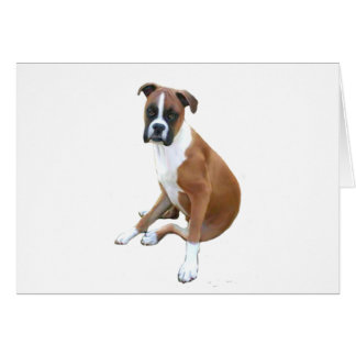 Boxer (A) - natural ears Greeting Card