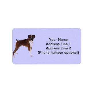 Boxer Address Sticker