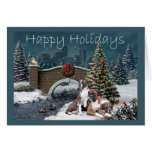 Boxer Adults Christmas Evening Greeting Card