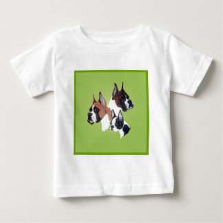 Boxer and Boston Bully Head Studies Baby T-Shirt