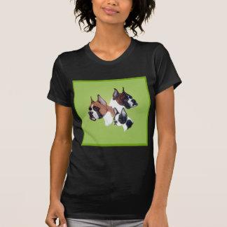 Boxer and Boston Bully Head Studies T-Shirt